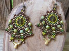 Bohemian earrings / trible jewelry / dangle / by DandasCollection