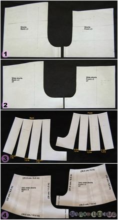 Tutorial on how to draft a culottes pattern.