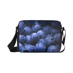 Blueberries Classic Cross-body Nylon Bag. FREE Shipping. #artsadd #bags #fruits