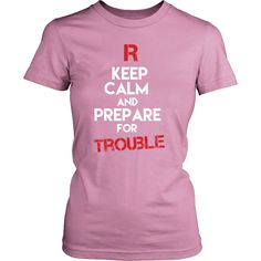 734228f5 KEEP CALM AND PREPARE FOR TROUBLE- Pokemon shirt is designed for Team  Rocket fans. NerdKudo