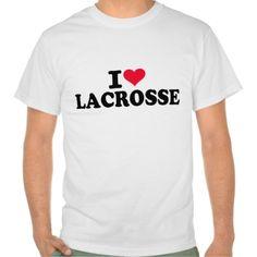 I love Lacrosse T-shirt #I #love #Lacrosse #sports #heart $20.95