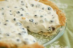 Blueberry cream pie***