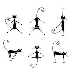black cat silhouette - Bing Images