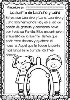 Easy Reading for Reading Comprehension in Spanish - November Set Learning Spanish For Kids, Spanish Teaching Resources, Spanish Lessons, Learn Spanish, Spanish Jokes, Elementary Spanish, Spanish Classroom, Learning Apps, Learning Quotes
