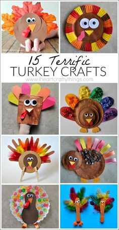 15 Terrific Turkey Crafts for Kids