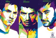 Trio MSN - Messi - Suarez - Neymar - Los Cules - FC Barcelona - FCB