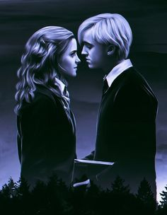 Draco And Hermione, Harry Potter Draco Malfoy, Harry Potter Tumblr, Harry Potter Anime, Harry Potter Fan Art, Harry Potter Fandom, Hermione Granger, Dramione, Drarry