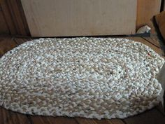 braided rug made of plastic grocery bags!