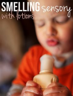 Smell lotions for a sensory activity.