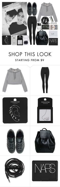 """""""Untitled #102"""" by jessiedeas16 ❤ liked on Polyvore featuring DK, Topshop, adidas, Samsung, Urbanears, NARS Cosmetics and ASOS"""
