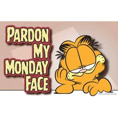 I Hate Mondays Garfield Monday, Garfield Quotes, Garfield Cartoon, Garfield And Odie, Garfield Comics, Garfield Pictures, Monday Face, Senior Humor, I Hate Mondays