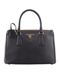 Mini Saffiano Lux Tote Bag, Black by Prada at Neiman Marcus. I want this! Time to start saving.....