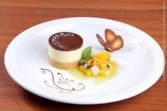 Maccheroni Massas & Mignons  Tarte Passion Au Caramel Salé ( John e Ana )  Torta com Mousse de Caramelo salgado e Frutas Amarelas