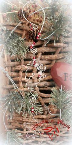 'Wired Whinnies Minis' tree ornaments, by rhythm-n-beads.com  www.facebook.com/rhythmbeadser  'Star' NEW!-tree ornament, Christmas decoration,