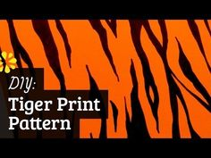 Awesome tutorial for making tiger print. Can use to make gift wrap paper, invitations, decorations and much more for Daniel Tiger party theme