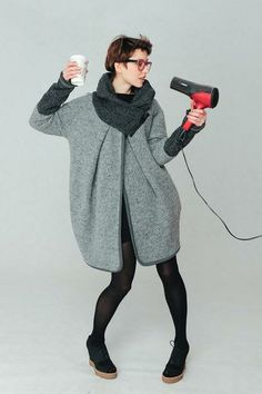 Oversized pullover - wool coat from KOKOworld by DaWanda.com
