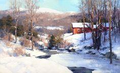 """Képtalálat a következőre: """"mark boedges artist"""" Painting Snow, Winter Painting, Winter Art, Artist Painting, Watercolor Landscape, Landscape Art, Landscape Paintings, Watercolor Art, Environment Painting"""