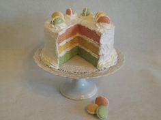 Artificial Pastel Macaron Layer Cake by Cara Mia Cakes, $55.00