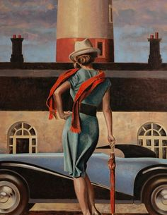 PEREGRINE HEATHCOTE – ARTIST, Peregrine Heathcote's paintings conjure a world of intoxicating glamour and intrigue, slipping across the boundaries of time to fuse iconic pre-war design with modern conceptions of beauty and silverscreen-era romance. Art Deco Artists, Art Deco Paintings, Oil Paintings, Art Deco Illustration, Illustrations, Poster Art, Art Deco Posters, Retro Art, Vintage Art