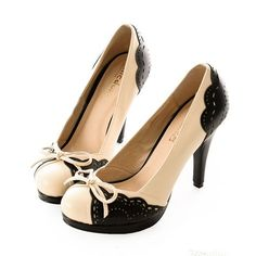 Black Ivory High Heel Platform Nautical Fashion Party Pumps Shoes Buy SKU-1090654