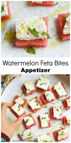 Delicious Watermelon Feta Bites Appetizer