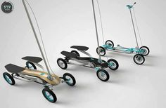 Customizable Foldable Scooters - The STP Scooter by Benk Koros Addresses Versatile Commuting (GALLERY)