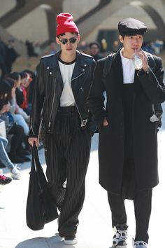 Street Style Seoul - kim won joong and park ji woon