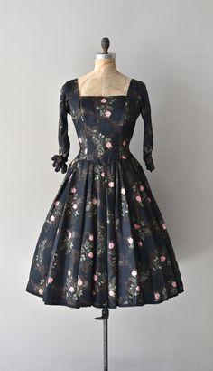 Rose Briar dress / vintage 1950s dress / floral by DearGolden