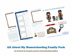 {Freebie} All About My Homeschooling Family Pack - Frugal Homeschool Family