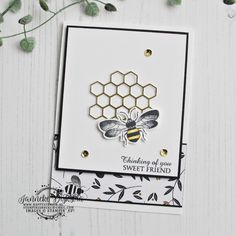 Stampin' Up! – Honey Bee – Global Design Project – Happy Stampin' Stampin' Up! Anniversary Ideas For Him, Anniversary Cards, Bee Cards, Global Design, Bee Happy, Animal Cards, Happy Birthday Images, Greeting Cards Handmade, Stampin Up Cards