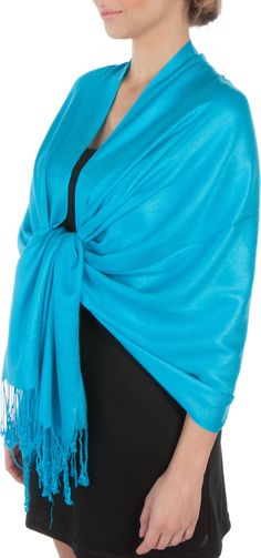 "Sakkas 78"" x 28"" Silky Soft Solid Pashmina Shawl / Wrap / Stole"