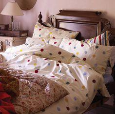 Polka Dot Duvet Set - love this for a little girl's room