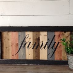 Scrap Wood Crafts, Pallet Crafts, Wooden Crafts, Diy Wood Projects, Canvas Crafts, Rustic Wood Signs, Wooden Signs, Pallet Picture Frames, Homemade Signs