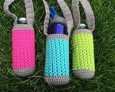 PATTERN PDF Crochet Water Bottle Holder Bottle by MyWindowSIL