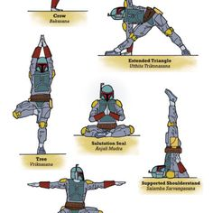 Yoga Fett by Rob Osborne