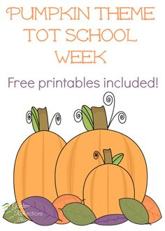 Hands-on activity ideas for a pumpkin theme tot school week. Ages 2-3. www.GoldenReflectionsBlog.com