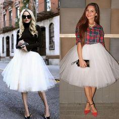 2015 5 Layers White Tulle Party Skirts Hot Selling Women Lady Girls Short Skirt Tulle Tutu Formal Wear Women Clothing Knee Length Skirt