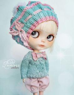 Blythe Ooak ensemble bonbon menthe par Atelier impair princesse, costume victorien, une Occasion spéciale