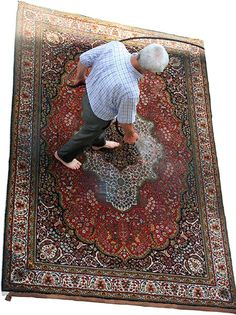 Tips For How to Clean Oriental Wool Rugs a simple solution of warm water and white vinegar can remove most stains from your wool Oriental rug — if applied within minutes of the incident's occurrence