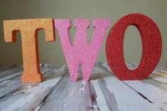 Handmade Glitter Letters  One Stylish Party by onestylishparty, $15.00