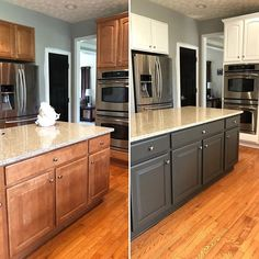 Modern And Trendy Kitchen Cabinets Ideas And Design Tips – Home Dcorz Old Kitchen, Updated Kitchen, Kitchen Redo, Home Decor Kitchen, Kitchen Ideas, Kitchen Rustic, Design Kitchen, Country Kitchen, Refacing Kitchen Cabinets