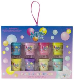 Dippin Dots 8 Pieces Flavored Lip Balm Set, (Cotton Candy, Rasberry Sherbert, Watermelon Ice, Lemon Lime Sherbet, Banana Split Bubble Gum, Birthday Cake, Mint Chocalate) Dippin' Dots,http://www.amazon.com/dp/B009K8CW7M/ref=cm_sw_r_pi_dp_VOkZsb01P1KFM1HW