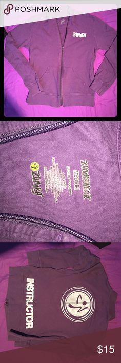 Zumba Instructor track jacket purple M Excellent Zumba Instructor track jacket purple sz M Excellent condition. Zumba Tops Sweatshirts & Hoodies