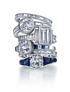 Diamond Engagement Ring Stack