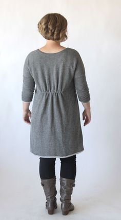 Learn how to sew this cute, easy to make DIY sweater dress or tunic with a free printable pattern and sewing tutorial.