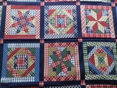 VIP Cranston Print Works Cotton Dress Making Fabric Navy Patchwork Design #cranston