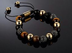 Northskull 18kt gold and precision cut Swarovski stone bracelet. Available @ northskull.com