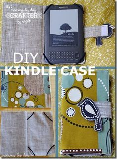 Kindle Cover Sewing Pattern =  unique, beautiful + free.