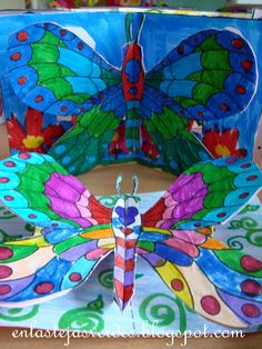 Beautiful Butterflies 3-D Art Project