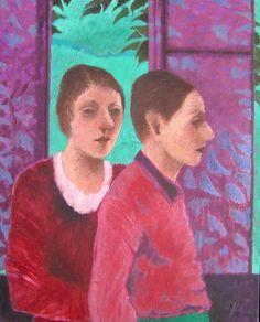 Jorge Alzaga, Personaje en rojo, 1996, óleo-tela, 100 x 80 cm #TalentoMexicano